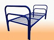 Кровати железные одноярусные для санаториев, кровати для рабочих. опт Байконыр