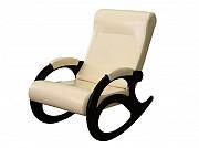"""кресло-качалка """"ларгус"""" экокожа цвет молочный, венге За границей"""