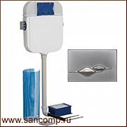 Система инсталляции с сенсорным и механическим смывом для чаши Генуя Алматы