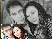 Портрет угольным карандашом красиво и дешево Алматы