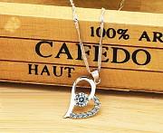 Продам серебряный ювелирные набор - Серьги + Ожерелье (heart) Алматы