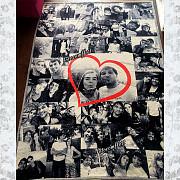 Плед с фотографиями, оригинальный подарок фотопокрывало Алматы Алматы
