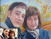 Портреты по фото ручная работа стаж 20 лет недорого Алматы