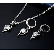 Продам серебряный набор серьги + колье – Fantasy Алматы