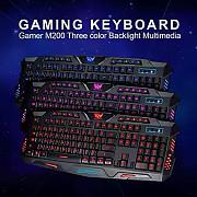 Продам игровую клавиатуру с подсветкой кнопок Mrm Power M200 Алматы