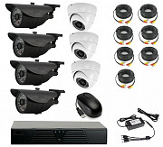 Продам комплект готового видеонаблюдения на 7 камер (Камера высокого р Алматы