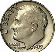 Монета Америка one dime liberty Алматы