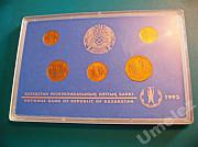 Казахстан. Комплект тиынов (1993 г.) - в состоянии Proof. Павлодар