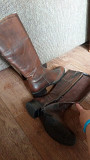 Сапоги кожаные на 41-42 размер, Filanto, Италия, жокейский стиль, куплены в Грации Караганда