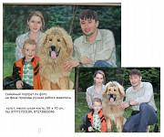 Семейный портрет по фото на заказ ручной работы на холсте Алматы