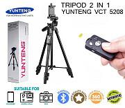 Продам штатив для камеры и телефона с кнопкой Bluetooth Yunteng Vct 5208 (43-125 см) Алматы