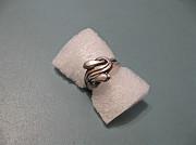 Кольцо со сплетенными змеями (серебро 925 пробы) Павлодар