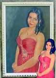 Портреты по фото на любой случай ручная работа живопись маслом Алматы