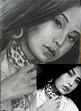 Портрет по фото на заказ ручной техники исполнения живопись и графика Алматы