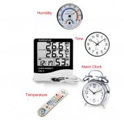 Htc-2 термометр внутр/наружн гигрометр часы будильник календарь Алматы