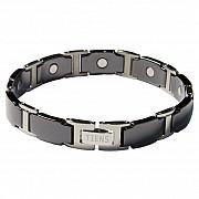 Титановый магнитный браслет Black, Elegant, White, Gold Алматы
