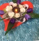 Аромабукеты для праздничных и свадебных столов .эксклюзив.ручная работа Алматы