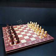 Деревянный набор игр 3 в 1 – Шашки Шахматы Нарды Алматы