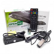 Open Sx1 HD - спутниковый Dvb-s/s2/t2-mi ресивер, поддержка Iptv, внешних Usb Wi-fi, Funcam доставка из г.Алматы