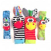 Носочки и браслетики с погремушками Sozzy доставка из г.Алматы