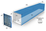 Аренда морского 40-ка футового контейнера. Казахстан, г. Лисаковск Костанай
