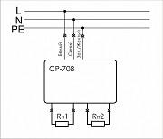 Реле напряжения СР - 708 двойная евророзетка 16а Евроавтоматика Нур-Султан (Астана)