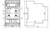 Универсальное электронное реле РН - 112 максимального/минимального напряжения 100 В/50 Гц, Новатек Нур-Султан (Астана)