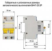 Автоматический двухполюсный модульный выключатель Ва47 - 29 С 10а Иэк Нур-Султан (Астана)