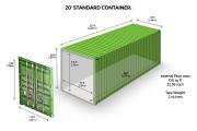 Аренда Морской 20 - ти футовый контейнер. Казахстан, г. Костанай Костанай