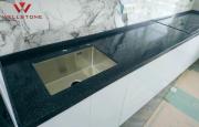 Столешница акриловый камень черная на кухню Алматы