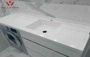 Столешница акриловый камень белая в ванную комнату Нур-Султан (Астана)
