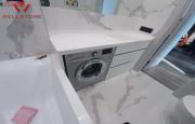 Столешница акриловый камень белая в ванную комнату Алматы