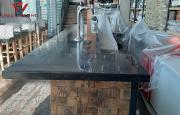 Столешница акриловый камень барная стойка под черный гранит Алматы