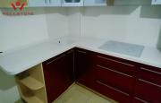 Столешница акриловый камень белая на кухню Алматы