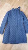 Пальто осеннее стеганый Турция, темно-синий, 46-52 размер (на рост 182 см почти до колена) Караганда