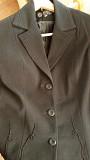 Жакет-пальто очень паздничный черный с вышивкой, плотная вискоза (подклад) 46-52 Караганда