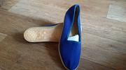 Раритет по времени, но не удобству, мягкие туфли Цебо, 42 размер, лазурного цвета Караганда