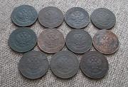 Подборка монет 1 копейка Николай -ii (погодовка) Петропавловск