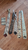 Галстуки мужские: шелк, 2 новых, 2 б/у + набор (галстук, платок) Караганда