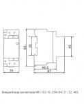 Контактор модульный двухполюсный Мк103 - 063а - 230в - 20 Dekraft Нур-Султан (Астана)