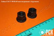 Гайка шестигранная с буртиком гост 8918-69 доставка из г.Москва