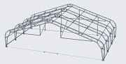 Каркасно-тентовый ангар (навес), сборно-разборное сооружение, для самолета Нур-Султан (Астана)