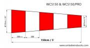 Ветроуказатель United Windsocks Вкс150/pro: Сменный ветровой конус износостойкий размером 50*150см Актобе