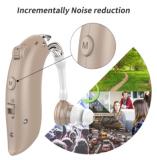 Слуховой аппарат заушной перезаряжаемый , усилитель звука Алматы