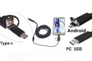 Цифровой эндоскоп с мини-камерой 2 м. для авто водонепроницаемый Алматы