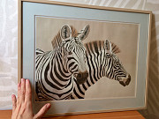 "Симпатичная картина ""зебры"", 52 х 42 см Алматы"