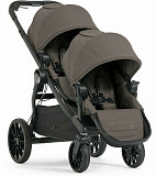 Baby Jogger City Select Lux Twin Tandem Double Stroller w Second Seat Taupe Тараз