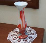 Изящная интерьерная ваза винтаж Ссср, молочное стекло Алматы