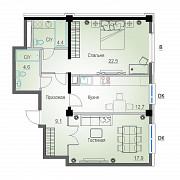 2 комнатная квартира, 73.7 м<sup>2</sup> Алматы