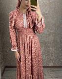 Нежное Платье с Платком (турция)в пол, красное, черное, розовое, вечернее, летнее Алматы